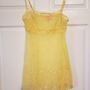 Victoria's secret lingerie yellow